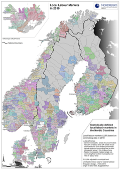 Map local labour markets