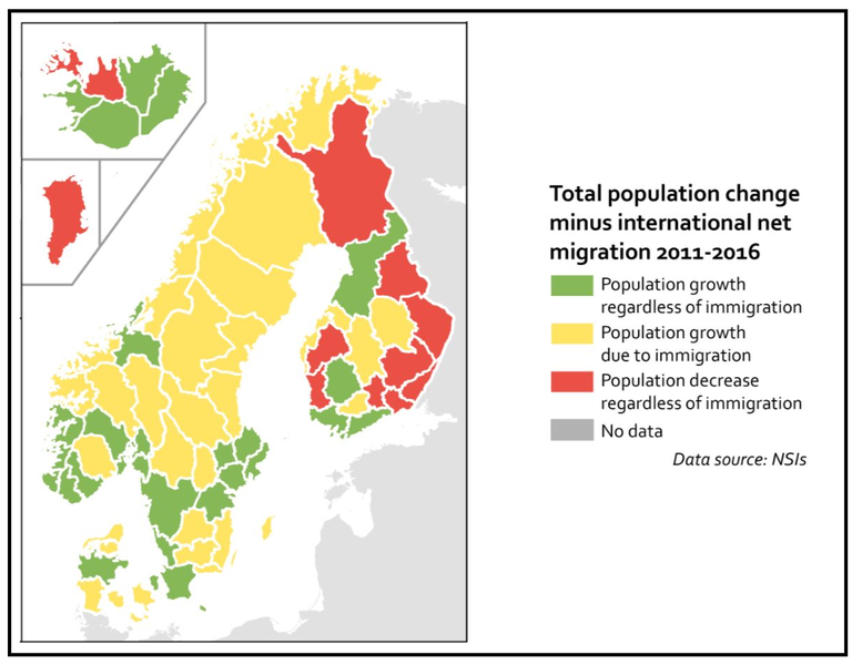 Map population change