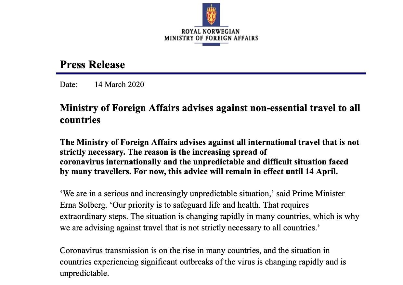 MFA press release