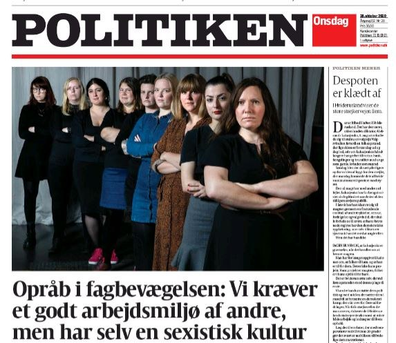 Politiken front page