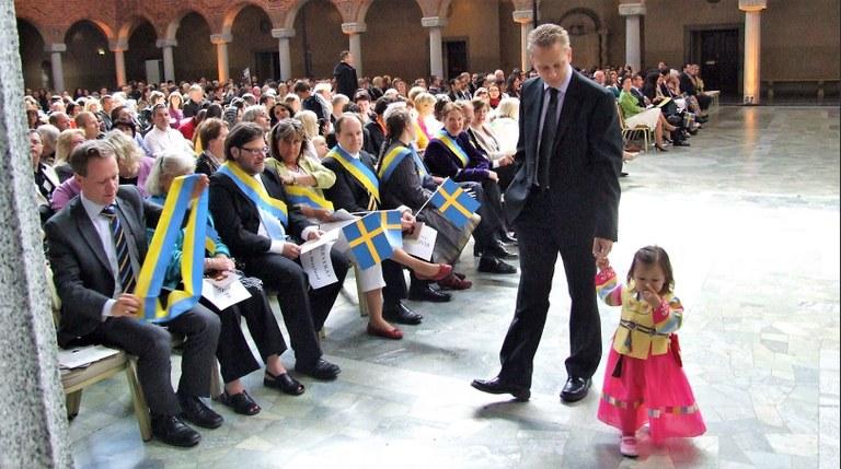 Sweden citizenship ceremony