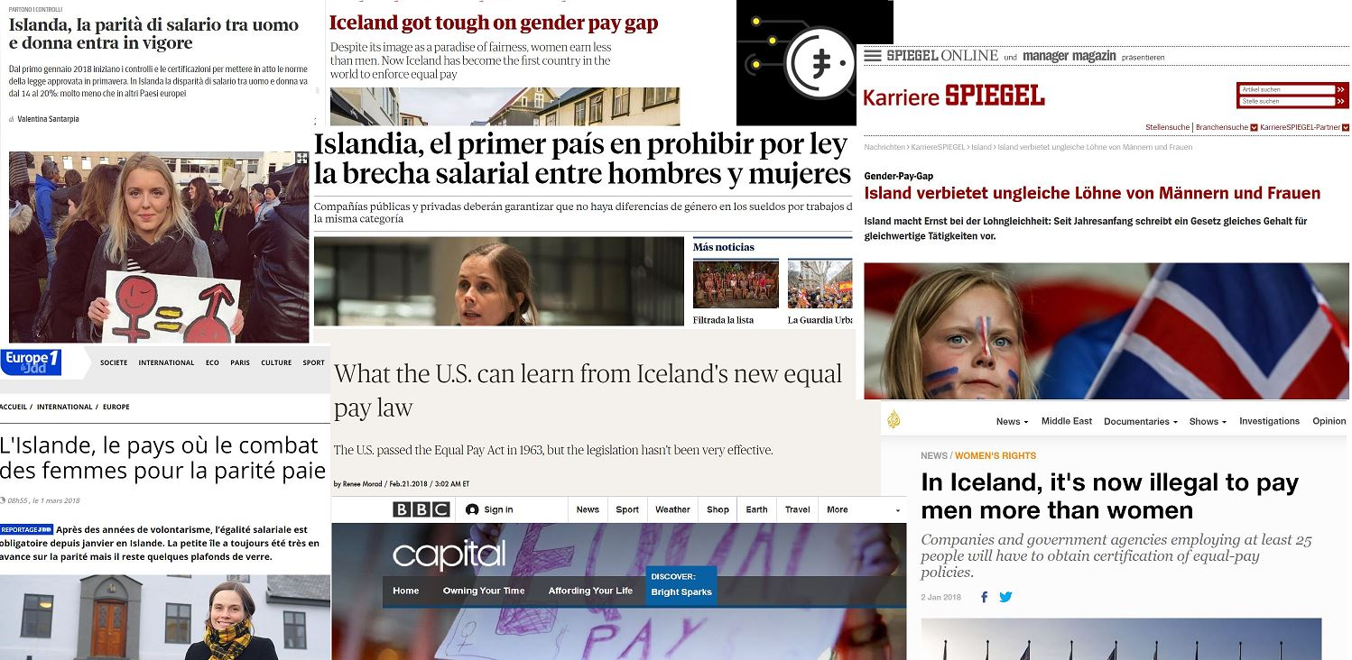 Enormous interest for Icelandic equal pay standard