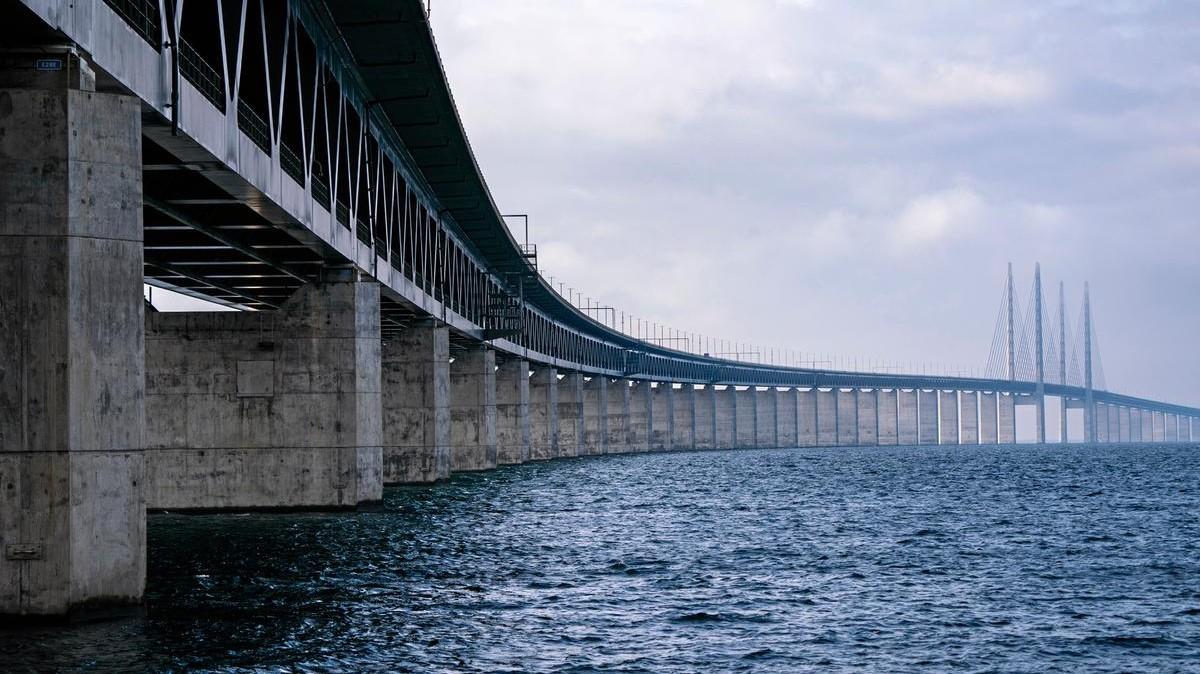 The Öresund Bridge is 20, and gets a sub-sea equivalent